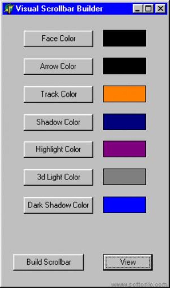 Visual Scrollbar Builder