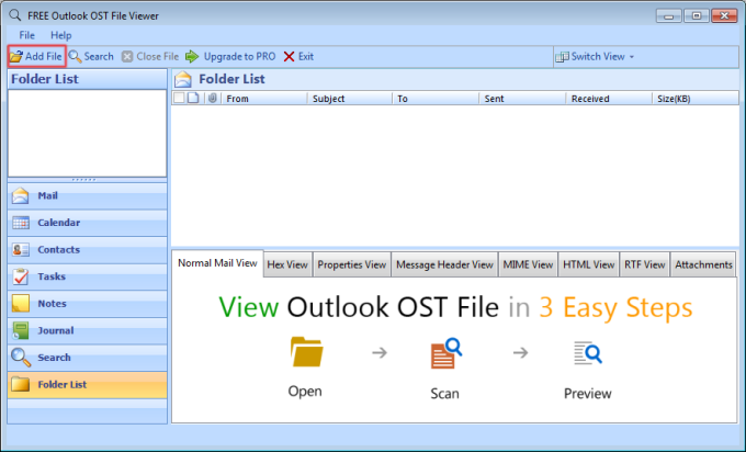 FREE Outlook OST File Viewer
