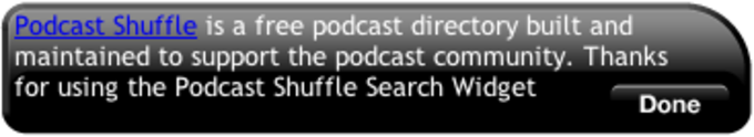 Podcast Shuffle Search Widget