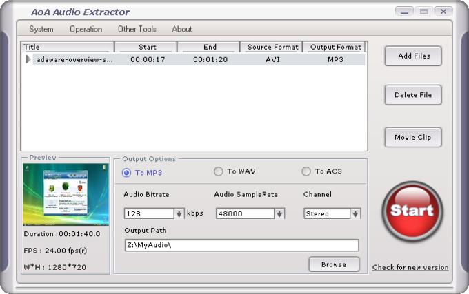 AoA Audio Extractor