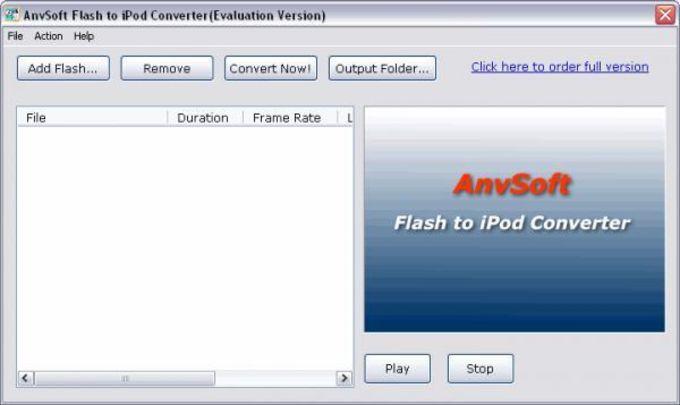 Flash to iPod Converter