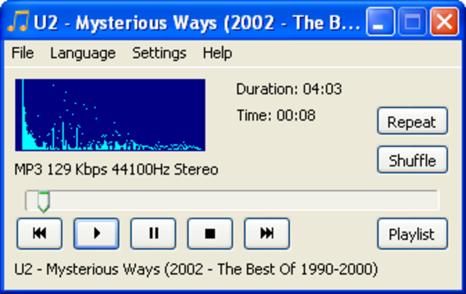 CrystalWolf Audio Player