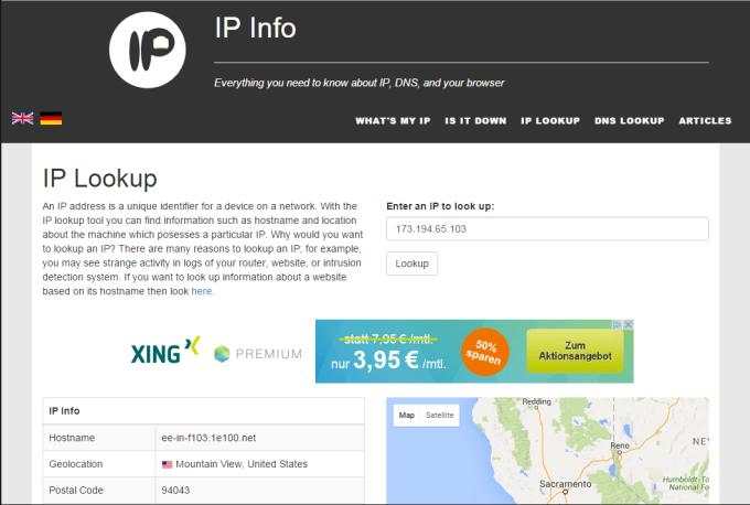 IP Lookup