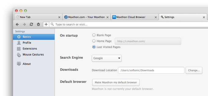 Maxthon for Mac