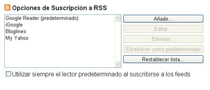 RSS Subscription Extension