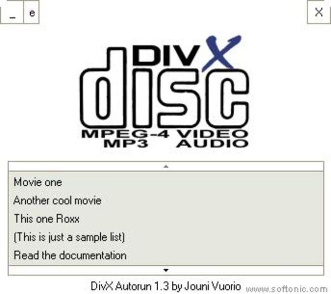 DivX Autorun