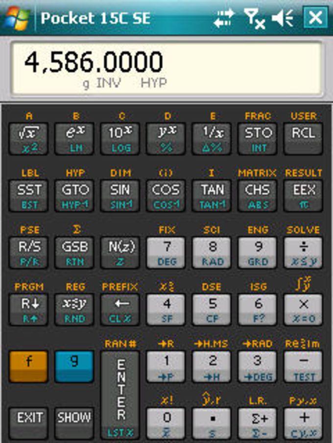 Pocket 15C SE Scientific Calculator