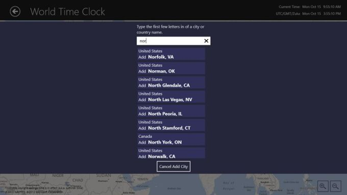 World Time Clock for Windows 10