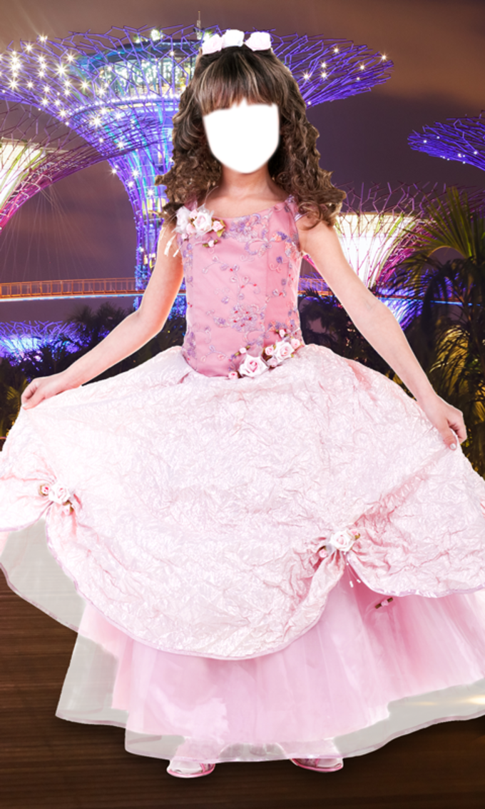 Princess Girl Photo Montage