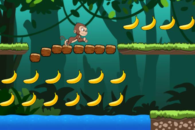 Banana world  Bananas island  hungry monkey
