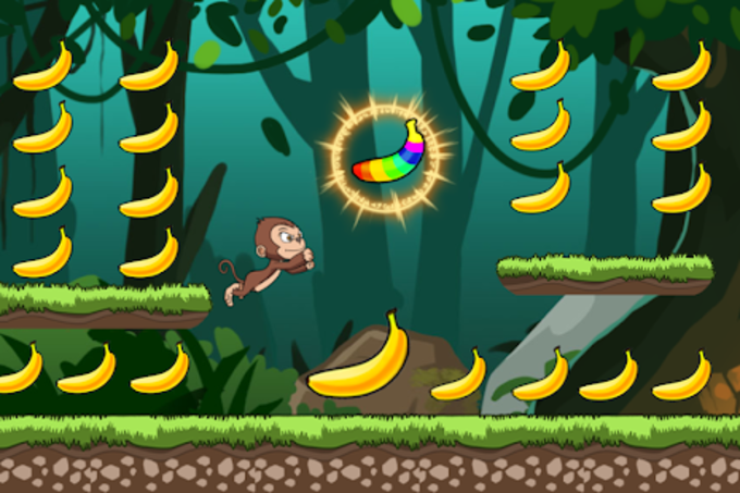 Banana world  Bananas island  hungry monkey