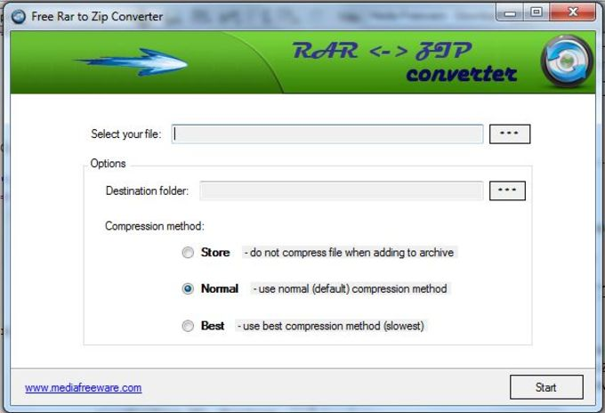 Free RAR to ZIP Converter