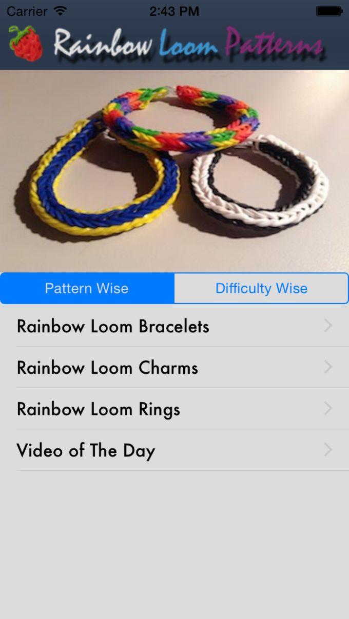 Los patrones del arco iris Loom