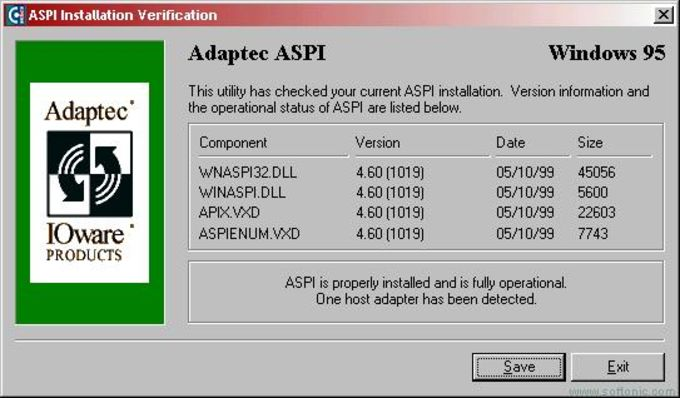 adaptec aspi manager