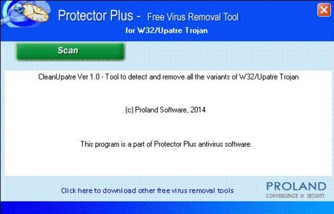 W32/Upatre Free Virus Removal Tool