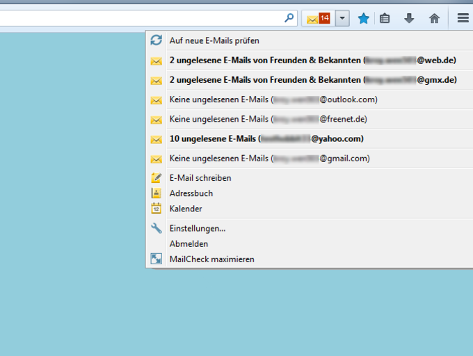 WEB.DE MailCheck für Firefox