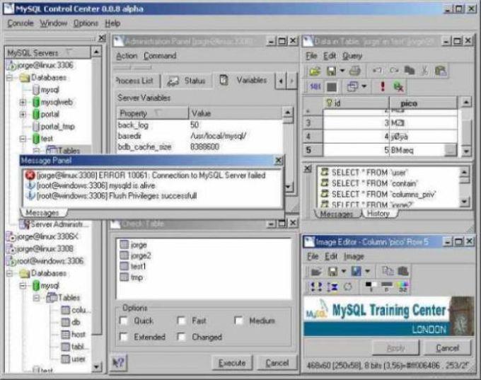 MySQL Control Center