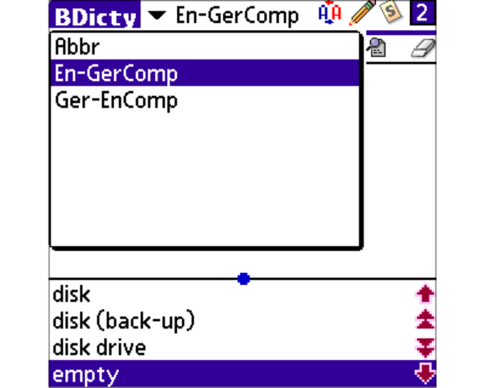 BDicty German Computer Terms
