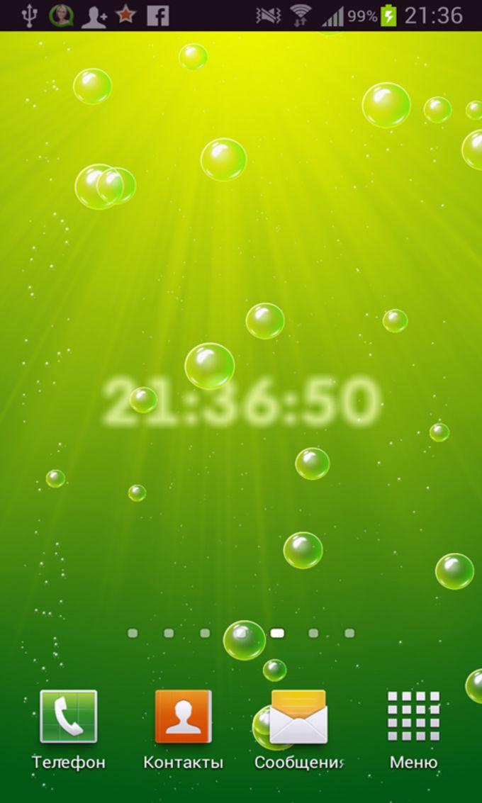 Bubbles live wallpaper