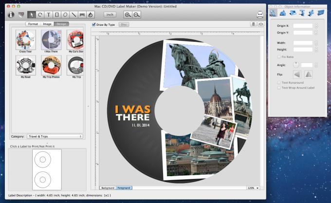 Mac CD/DVD Label Maker