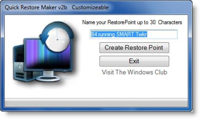 Quick Restore Maker