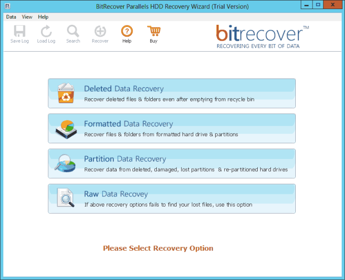 Parallels HDD Recovery Wizard