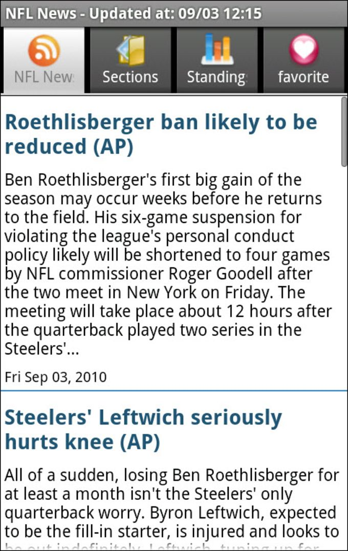 NFL Football News