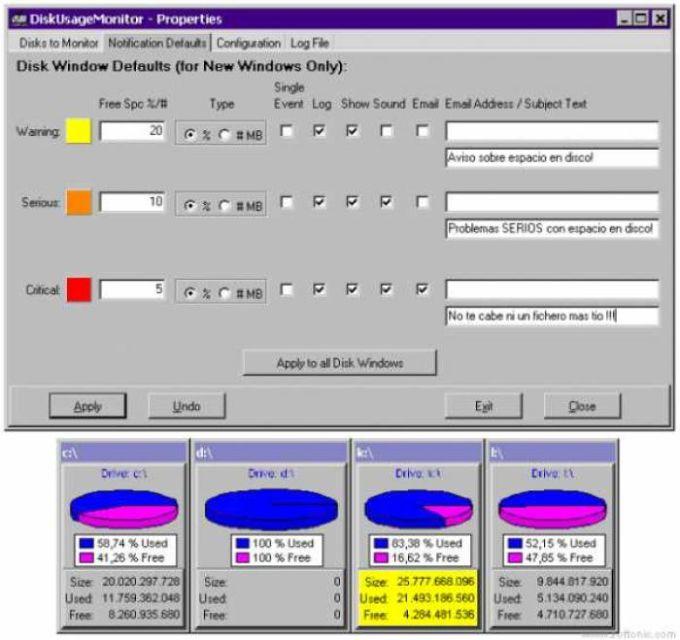 Disk Usage Monitor