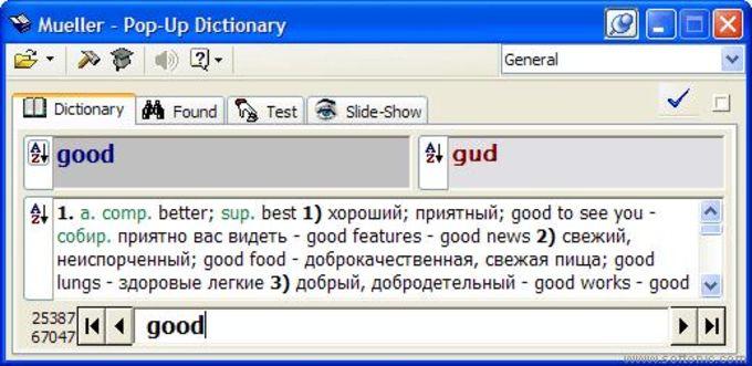 Pop-Up Dictionary