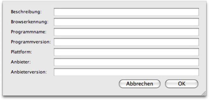 User Agent Switcher