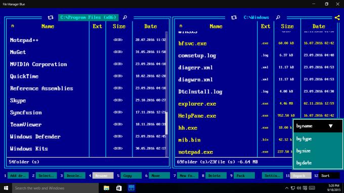 File Manager Blue