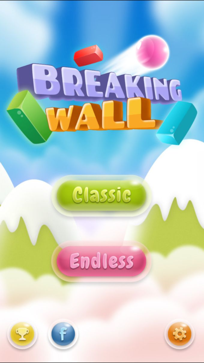 Break the bricks or Breaking wall (Brick breakout game)