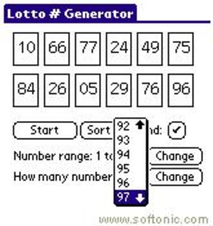 Lotto # Generator