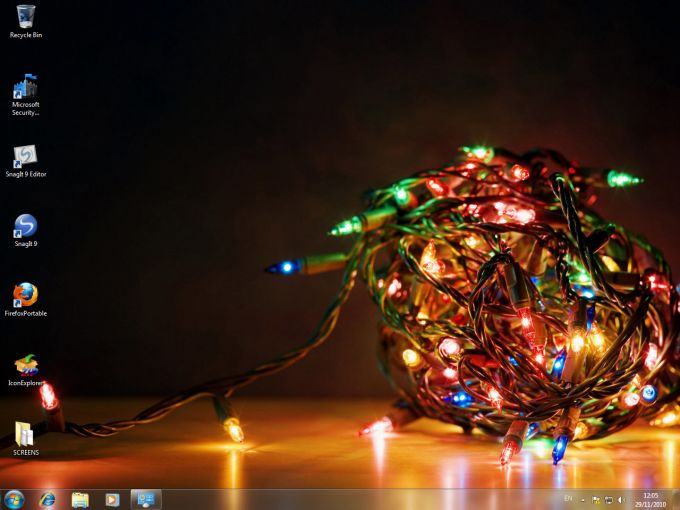 Temat Holiday Lights Windows 7