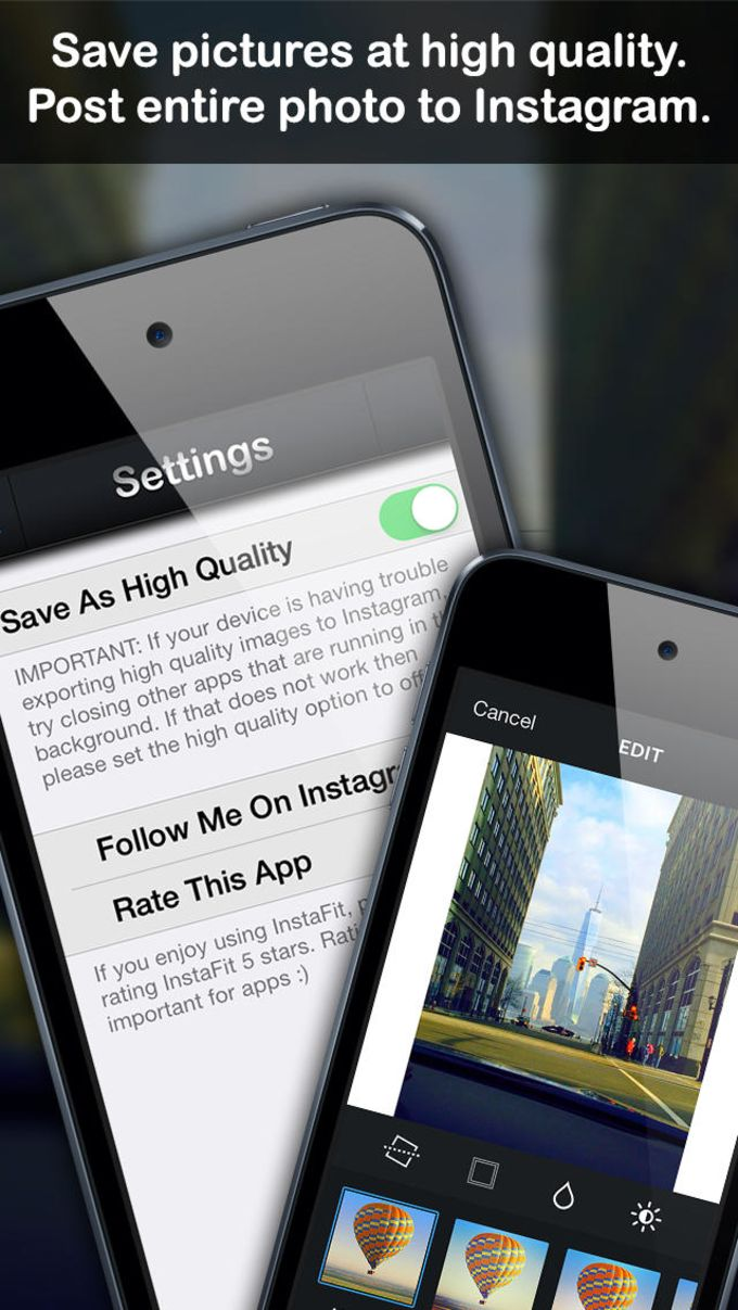 InstaFit - Post Photos To Instagram Without Cropping