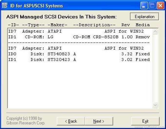 ID for ASPI/SCSI Systems