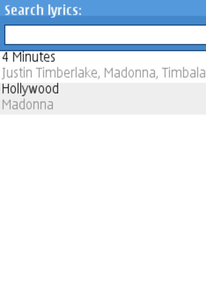 Lyrics Search
