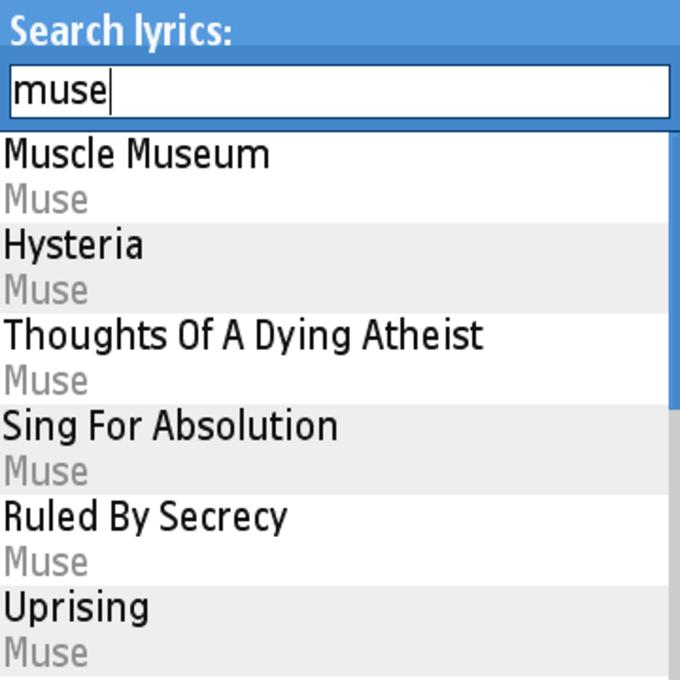 Lyric Search