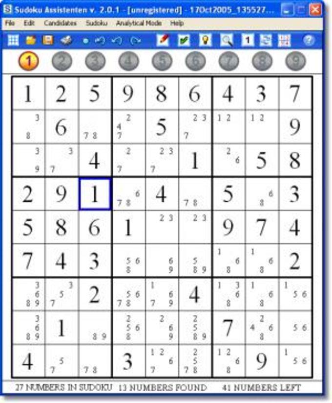 Sudoku Assistenten