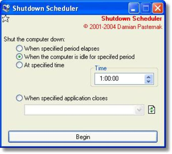 Shutdown Scheduler (SDS)