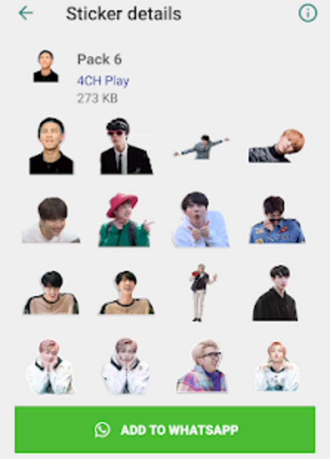 BTS Funny Stickers 2019 - WAStickerApps