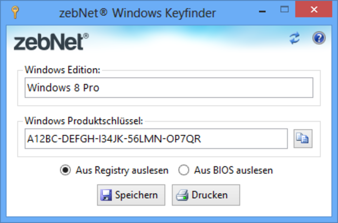Windows Keyfinder