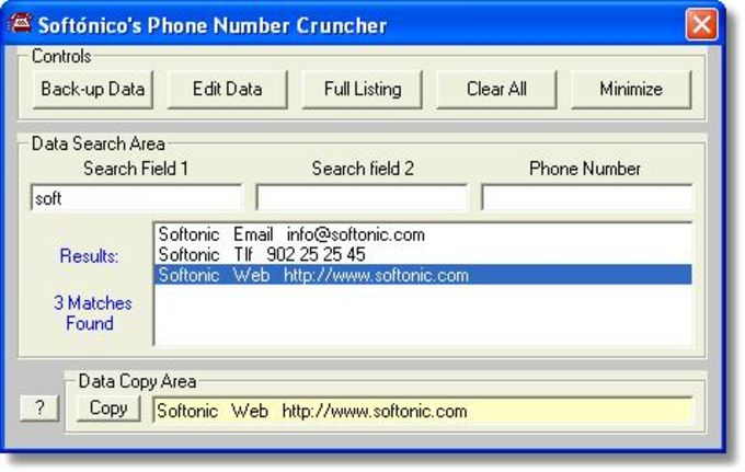 Phone Number Cruncher