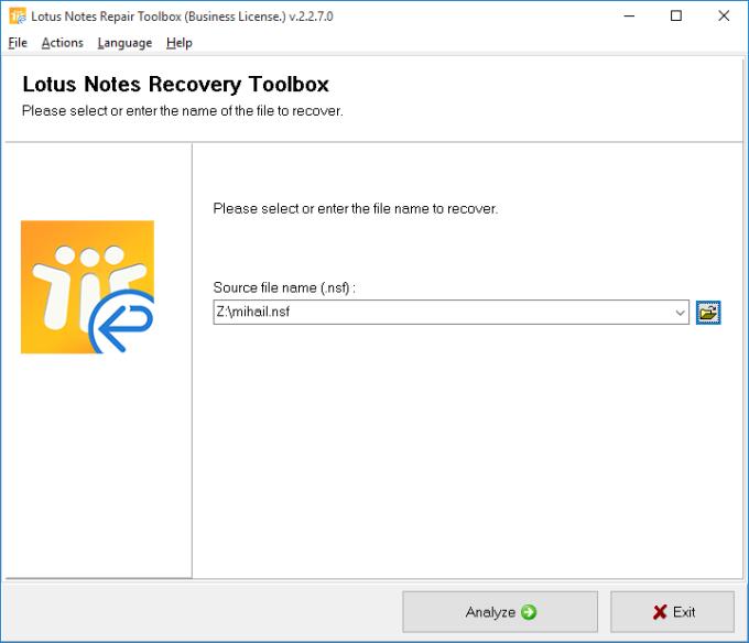 Lotus Notes Repair Toolbox
