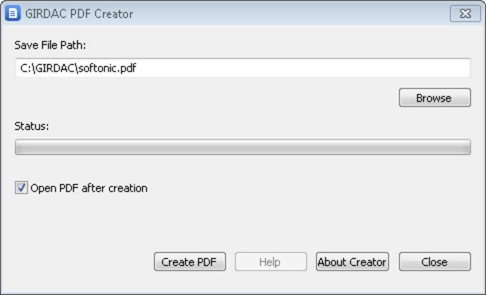 GIRDAC Free PDF Creator