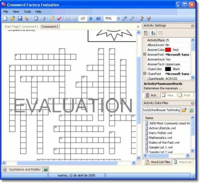 Crossword Factory