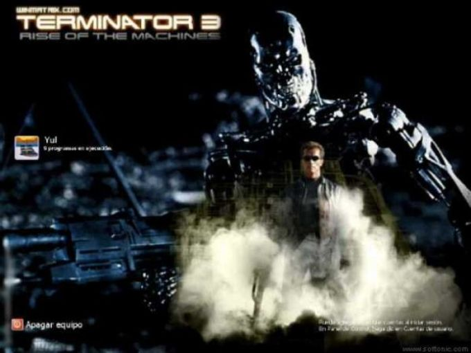 Terminator 3 Logon Screen