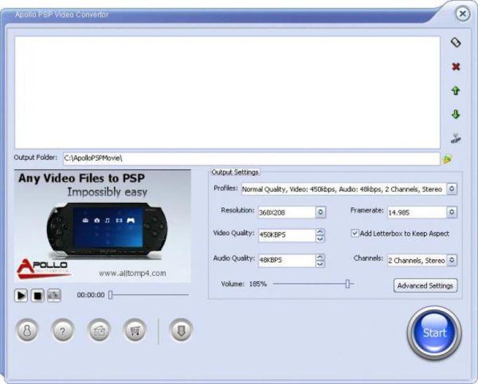 Apollo PSP Video Converter