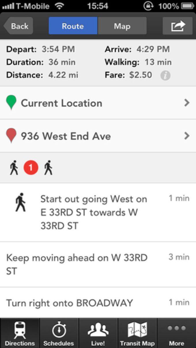 HopStop Transit Directions