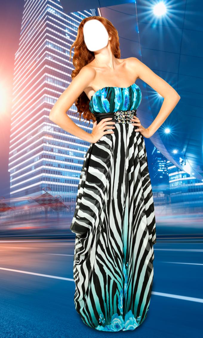 Woman Long Dress Photo Montage